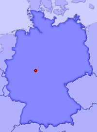Show Jesberg in larger map