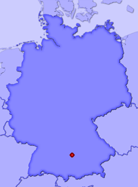 Show Bliensbach in larger map