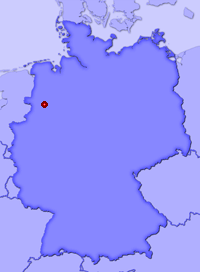 Show Ibbenbüren in larger map