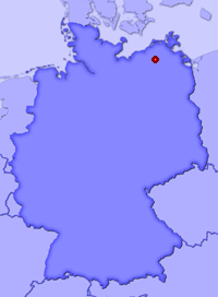 Show Thürkow in larger map