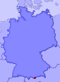 Show Wallgau in larger map
