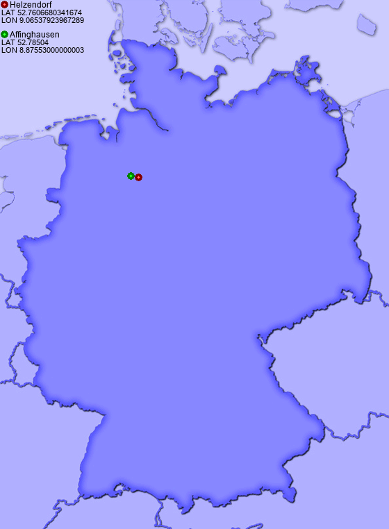 Distance from Helzendorf to Affinghausen