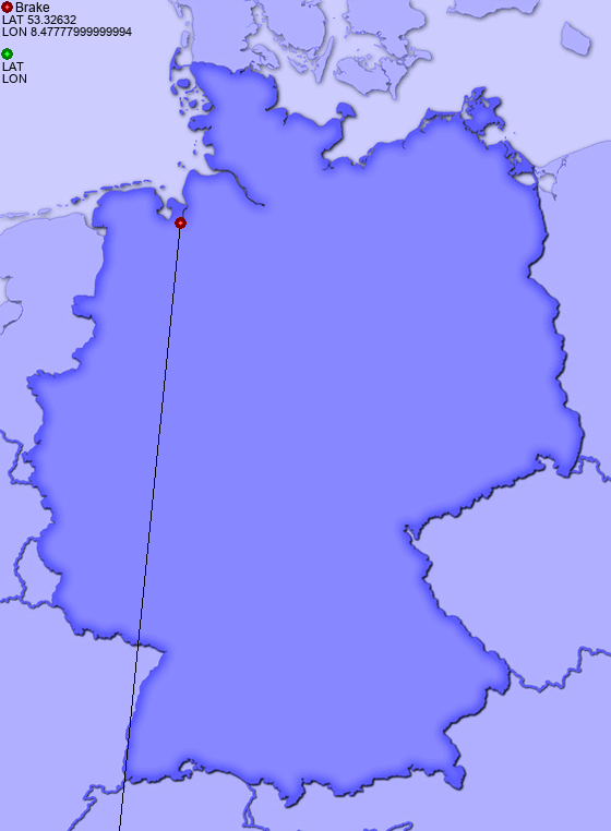 Distance From Brake To Bremerhaven Places In Germany Com