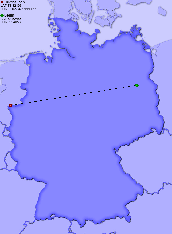 Distance from Griethausen to Berlin