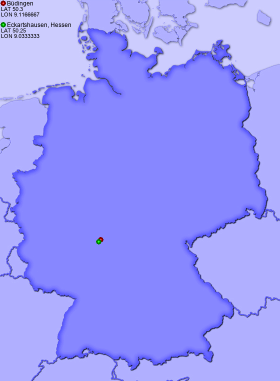 Budingen Germany Map.Distance From Budingen To Eckartshausen Hessen Places In Germany Com