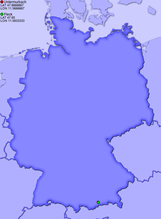 Distance from Untermurbach to Fleck