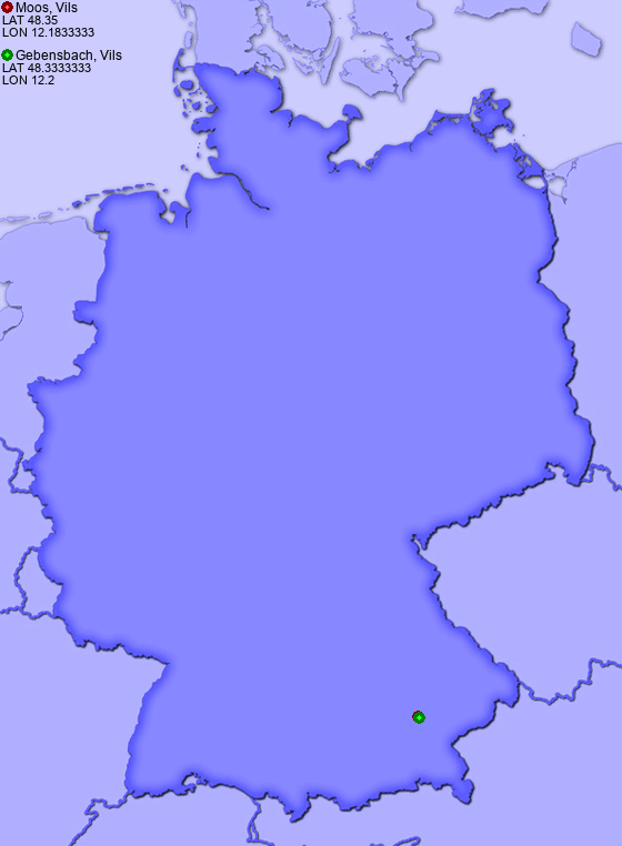 Distance from Moos, Vils to Gebensbach, Vils