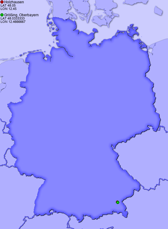 Distance from Holzhausen to Größing, Oberbayern