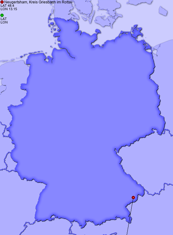 Distance from Neugertsham, Kreis Griesbach im Rottal to Kindlbach, Rott