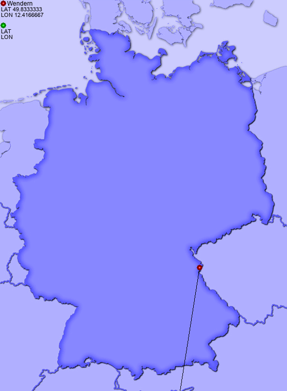 Distance from Wendern to Mähring, Oberpfalz