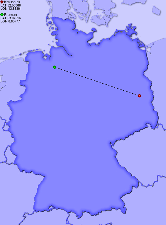 distance from krausnick to bremen
