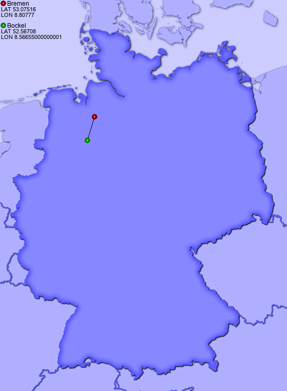 Distance from Bremen to Bockel - Places-in-Germany.com