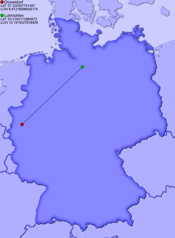 Distance from D sseldorf to Luhm hlen PlacesinGermany – Germany Map Distances