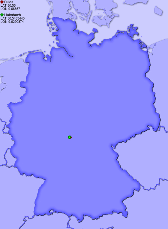 Distance from Fulda to Haimbach