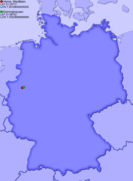 Distance from Herne, Westfalen to Deininghausen