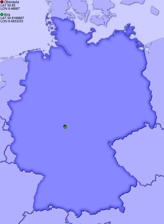 Distance from Oberaula to Ibra