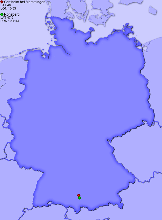 Map Of Germany Memmingen.Distance From Sontheim Bei Memmingen To Ronsberg Places In Germany Com