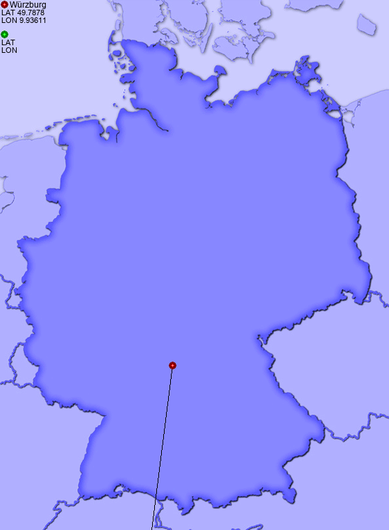 Distance from Würzburg to Oppenheim