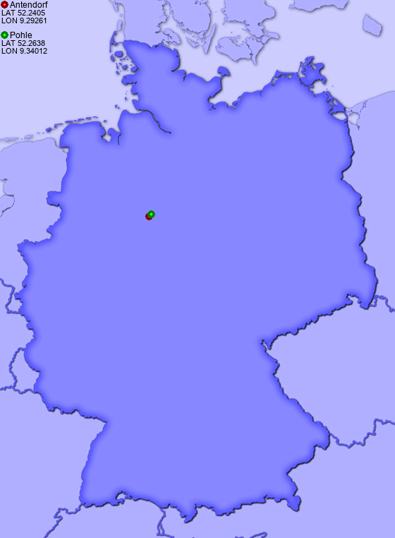 Distance from Antendorf to Pohle