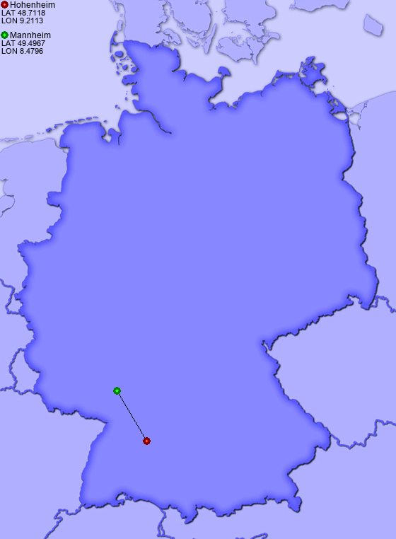 Map Of Germany Mannheim.Distance From Hohenheim To Mannheim Places In Germany Com