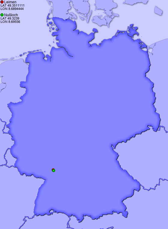 Distance from Leimen to Nußloch
