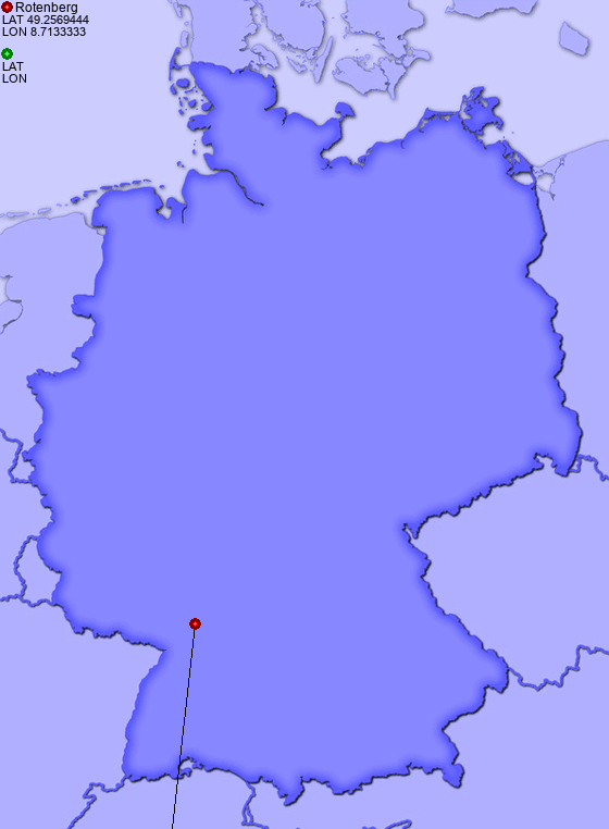 Distance from Rotenberg to Bremen - Places-in-Germany.com