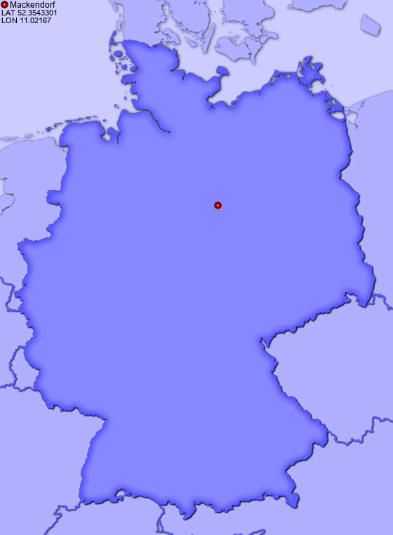 Location of Mackendorf in Germany