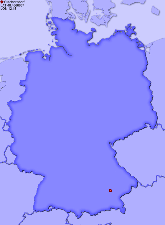 Location of Stachersdorf in Germany