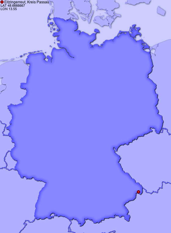 Location of Eitzingerreut, Kreis Passau in Germany