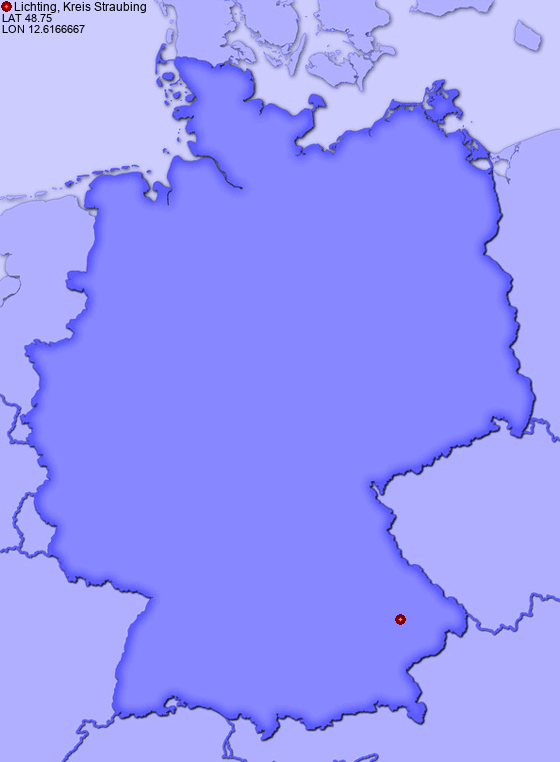 Location of Lichting, Kreis Straubing in Germany