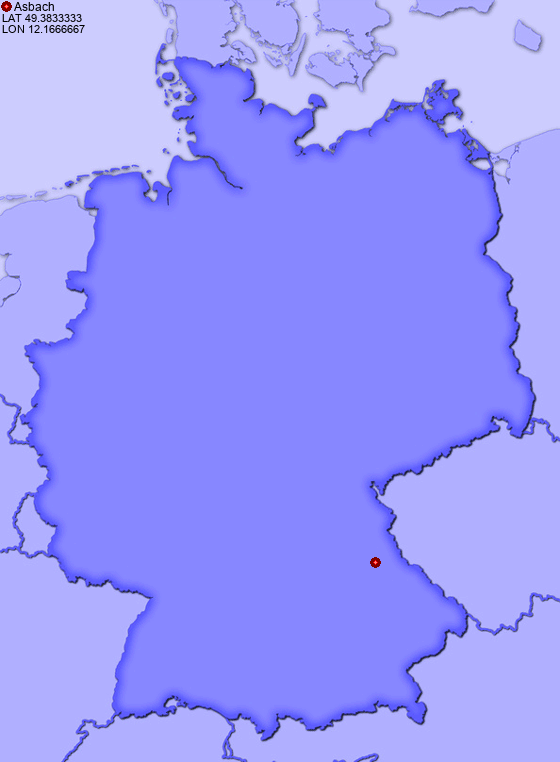 Location of Asbach in Germany