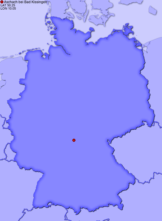 Location of Aschach bei Bad Kissingen in Germany
