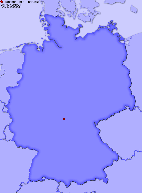 Location of Frankenheim, Unterfranken in Germany