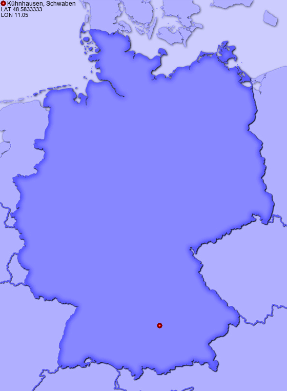 Location of Kühnhausen, Schwaben in Germany