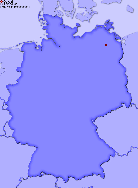 Location of Gevezin in Germany