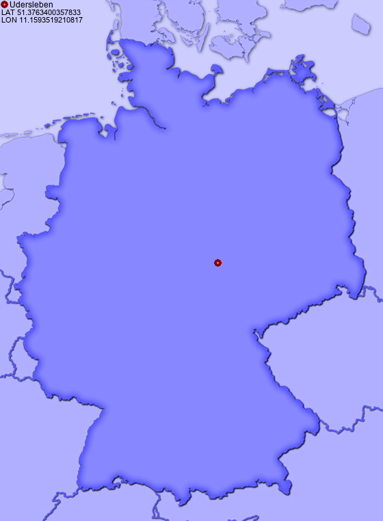 Location of Udersleben in Germany