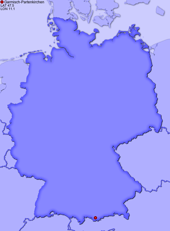 Location Of Garmisch Partenkirchen In Germany Places In Germany Com