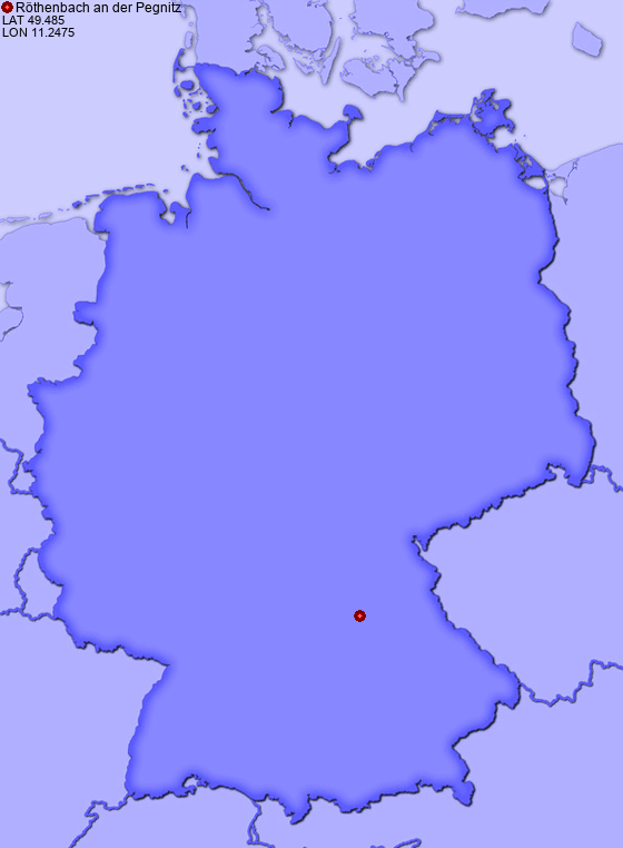 Location of Röthenbach an der Pegnitz in Germany