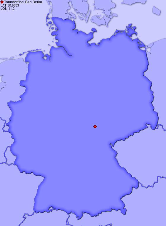 Location of Tonndorf bei Bad Berka in Germany