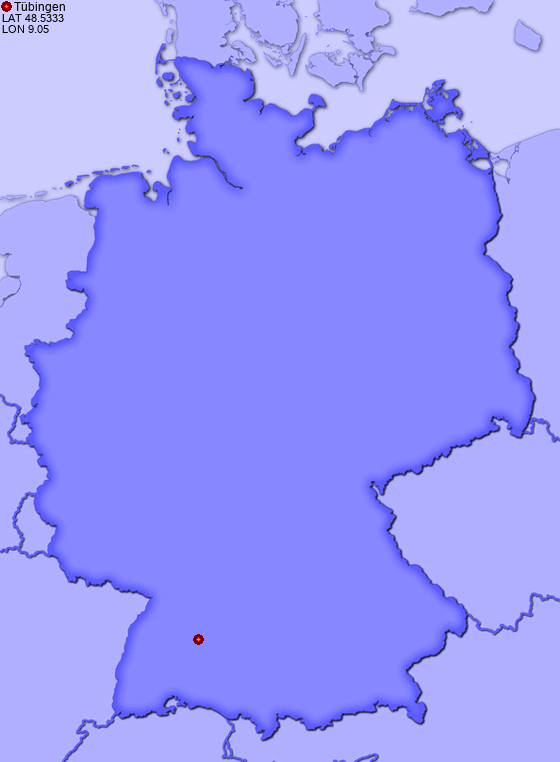 location of tbingen in germany