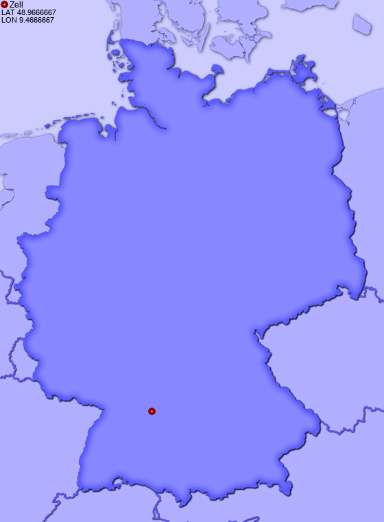 Location of Zell in Germany