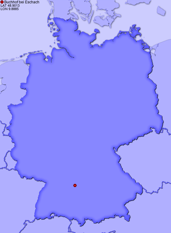 Location of Buchhof bei Eschach in Germany