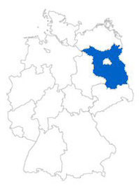 Show Federal state Brandenburg on the map of the federal states