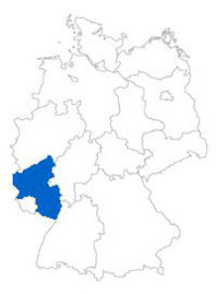 Show Federal state Rhineland-Palatinate on the map of the federal states