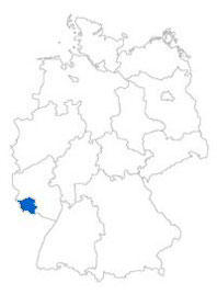 Show Federal state Saarland on the map of the federal states