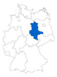 Show Federal state Saxony-Anhalt on the map of the federal states