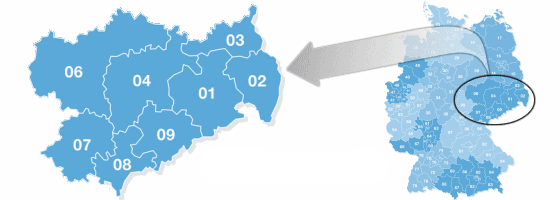 Postal codes in Germany