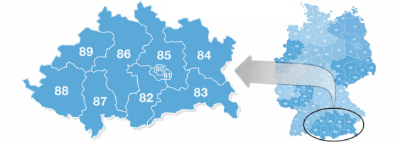 Postal Codes Zip 85 In Germany
