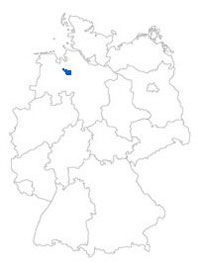Show Federal state Bremen on the map of the federal states